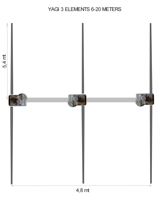 Ultra Beam 3 Element Yagi 6-20 Antenna