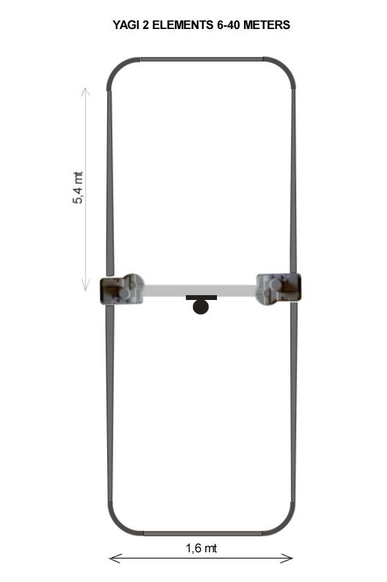 Ultra Beam 2 Element Yagi 6-40 Antenna