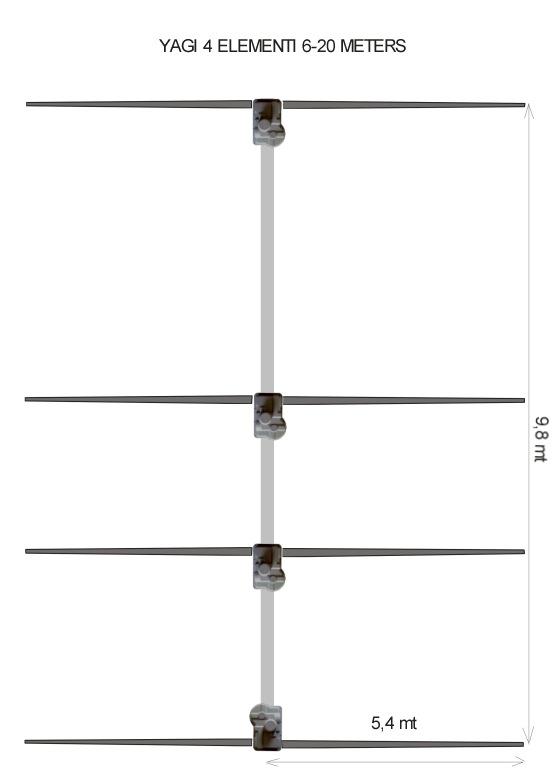 Ultra Beam 4 Element Yagi 6-20 Antenna