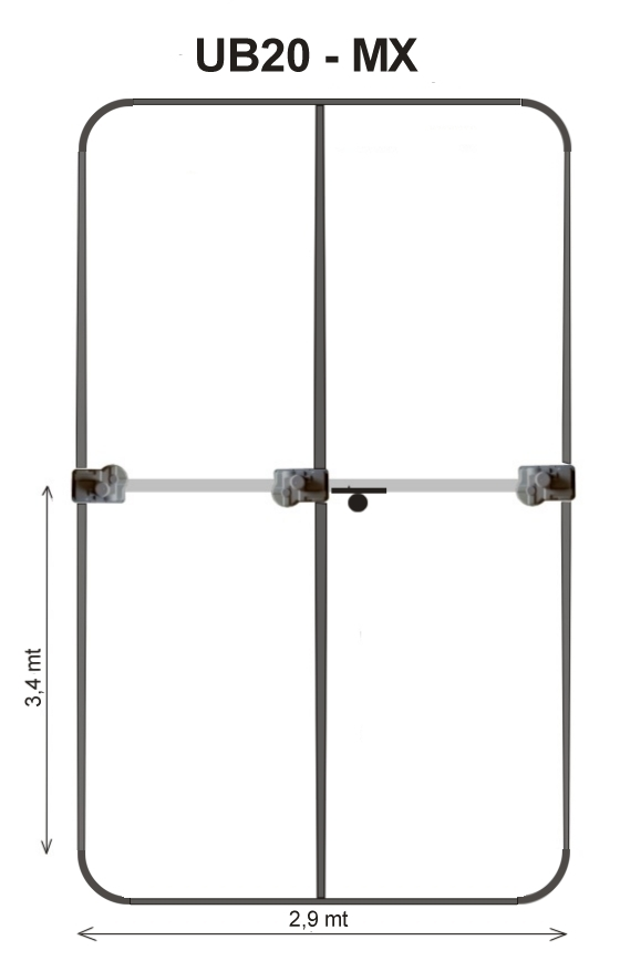 UB20-MX 3 Element Small Yagi 6-20 Metres